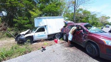 Se registra accidente sobre la carretera Jonuta-Zapatero