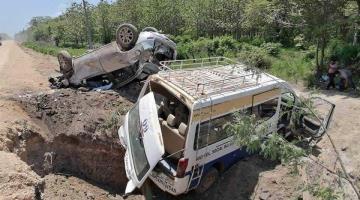 Accidente en Balancán deja como saldo varios lesionados