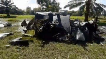 Mueren cinco policías en desplome de helicóptero en Colombia