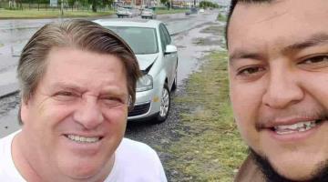 Miguel Herrera choca y le piden fotos en NL