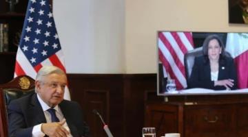 Se reunirán mañana AMLO y Kamala Harris en Palacio Nacional; el tema principal será la migración