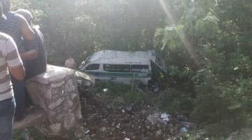 23 heridos deja volcadura de transporte público en Tuxtla Gutiérrez