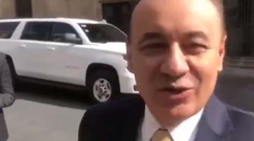Alfonso Durazo se reúne con AMLO en Palacio Nacional