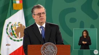 """Considera Ebrard """"buena señal"""" visita de secretario de seguridad de EE. UU a México"""