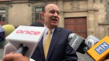 Alfonso Durazo y Layda Sansores se reúnen con AMLO en Palacio Nacional