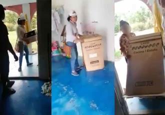 Familia de Estancia Vieja, denuncian despojo de los enseres entregados por el gobierno por parte de su casera