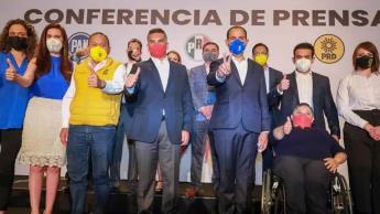 """""""Va Por México"""" se manifiesta en contra de las tres reformas que AMLO enviará al Congreso"""