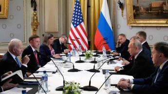 Difunden primera foto de la reunión entre Biden y Putin