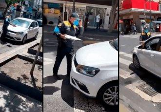 Automovilista arrolla a tránsito en la CDMX para evitar ser infraccionado