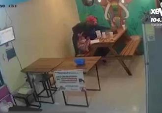 Exhiben en video asalto a comercio de Villahermosa