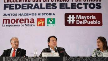Convoca Mario Delgado a próximos diputados de MORENA-PVEM-PT a actuar en un solo bloque