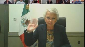 Llama Olga Sánchez a los gobernadores a una transición ordenada y pacífica