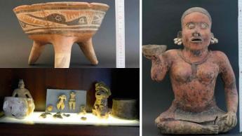 Devuelven alemanes a México, 34 piezas arqueológicas; destacan vasijas, sellos y figuras