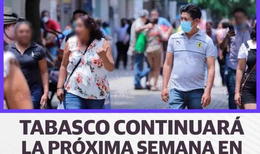 Continuará Tabasco en semáforo epidemiológico Naranja la próxima semana: Gobierno estatal