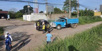 Volquetero agrede a tránsito por haberle marcado el alto, ocurrió en Villahermosa