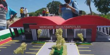Supervisan autoridades de Centro y del Estado construcción de nuevo mercado en Ocuiltzapotlán