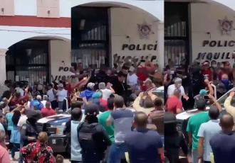 """Alcalde de Jiquilpan, Michoacán, fue corrido a """"huevazos""""; ciudadanos denuncian malos manejos en el municipio"""