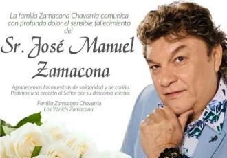 Fallece el líder de Los Yonic´s, José Manuel Zamacona, padecía COVID-19