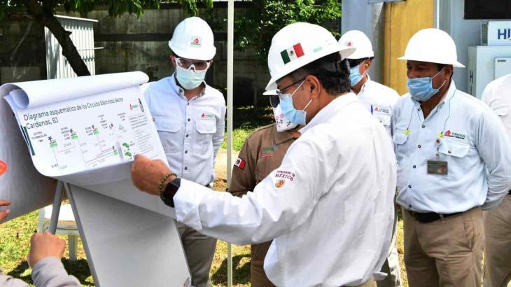 Realiza director general de Pemex gira de supervisión a instalaciones petroleras en Tabasco