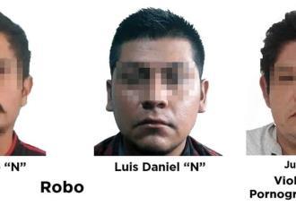 Detienen a 6 sujetos señalados de homicidio, pornografía infantil y robo