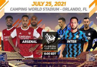 Inter de Milán y Arsenal renuncian a la Florida Cup en EE. UU. por COVID
