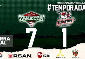 Olmecas ganan el primer juego ante Campeche y logran .500