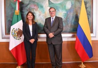 Colombia y México ponen en su agenda de cooperación conjunta los temas de seguridad y vacunas anticovid