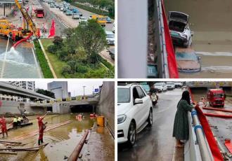 Hallan con vida a hombre que permaneció atrapado tres días en estacionamiento inundado en China