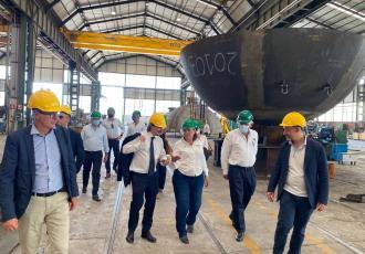 Supervisa Rocío Nahle, en Italia, fabricación de reactores y equipos críticos para Dos Bocas