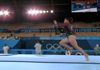 Avanza Alexa Moreno a la final de salto de caballo en Tokio 2020, pero queda fuera del All-Around