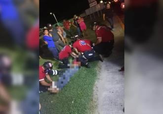 Motociclista termina herido tras derrapar en la Villahermosa-Macuspana