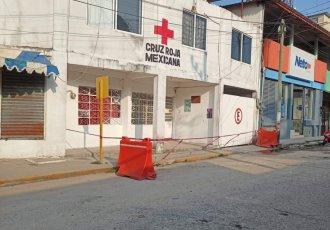 Por brote de coronavirus entre el personal, delegación de la Cruz Roja cierra sus puertas en Las Choapas, Veracruz