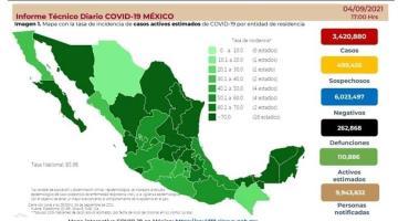 Suma México 15 mil 586 casos y 647 muertes de COVID-19 en las últimas 24 horas