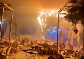 Pirotecnia causa incendio en salón y arruina boda en Torreón, Coahuila