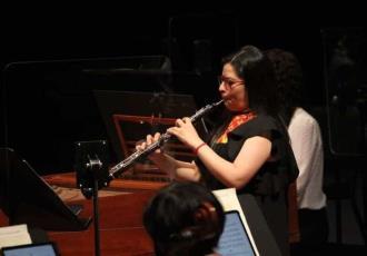 Oboísta tabasqueña debuta como solista de la Orquesta Sinfónica Nacional en Bellas Artes