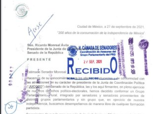 """Cinco legisladores conforman nueva bancada """"plural"""" en el Senado"""
