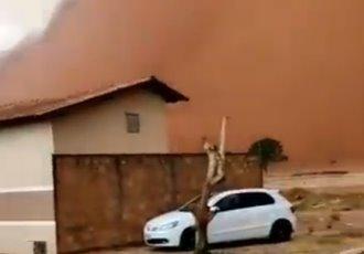 Tormenta de arena azota localidades de Sao Paulo, Brasil
