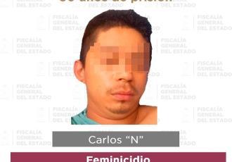 Dictan 30 años de prisión a feminicida que prendió fuego a su víctima en Comalcalco
