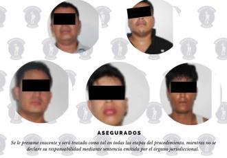 Detiene SSPC a 10 personas por diversos delitos; cinco de ellos se dedicaban presuntamente a extorsionar