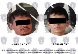 Detienen a dos hombres en Villahermosa por portación de arma blanca
