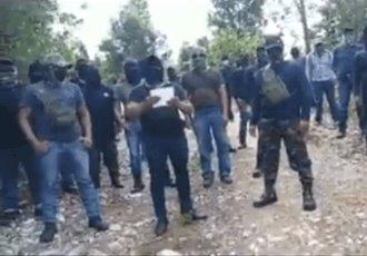 En Chiapas, encapuchados exigen a las autoridades paz para habitantes de Santa Martha