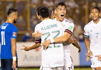 México lidera Concacaf tras vencer 2-0 a El Salvador