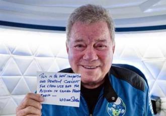 William Shatner de Star Trek cumple su sueño de ir al espacio... a los 90 años
