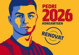 Barça ´amarra´ a Pedri hasta 2026 con cláusula de mil mde