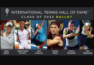 Ferrero, Moyá, Ivanovic, Pennetta, y Black, nominados al Salón de la Fama