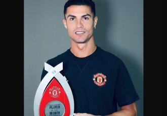 Cristiano Ronaldo, el mejor jugador del mes en Inglaterra