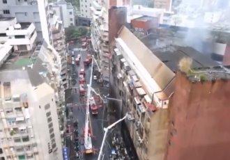 Incendio en edificio de Taiwán deja 46 muertos y varios hospitalizados