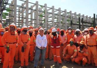 Presume Rocío Nahle respaldo de trabajadores de la refinería de Dos Bocas, tras conflicto