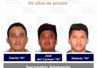 Condenan a 50 años de prisión a tres sujetos por el secuestro de dos mujeres en Cárdenas