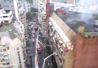 Detienen a presunta responsable del incendio que cobró la vida de 46 personas en Taiwán